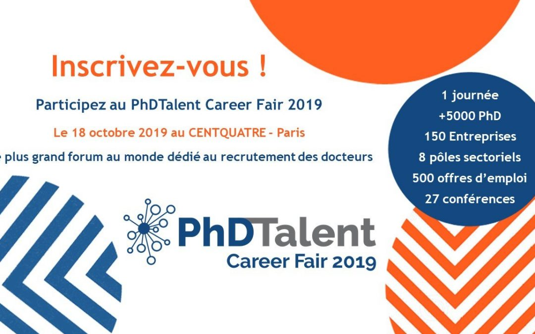 PhDTalent Career Fair le 18 octobre au CentQuatre